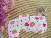 Wholesale quot strawberry grosgrain ribbon print ribbon ribbon bow