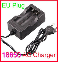 Free EMS,20 PCS EU Double Battery Charger Wired Charger For All 18650 Rechargeable Battery