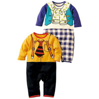 9-12 Months Medium Yellow Baby rompers bodysuits onesies boys shirts tuxedo jumpsuit jumper tie shortalls jumper outfits YX225