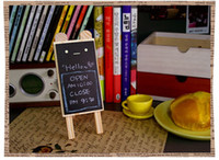 Wholesale Wood blackboard Wooden Mini expression Bear blackboard message board