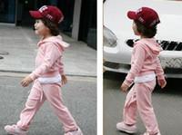 Wholesale 5set B2W2 Velvet Children tracksuit Hoodie pants Kids Tracksuits GIRLs sweat suit jogging suits