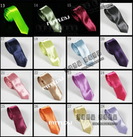Wholesale 50pcs South Korean import emulation silk fabrics narrow version into small men tie j