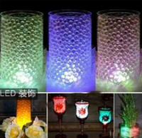 Wholesale 500pack g pack Water beads magic Crystal soil for wedding party deco perfect with LED Light