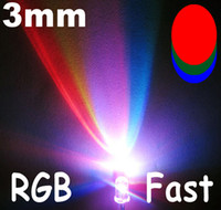 3mm led - 990pcs mm Fast RGB Red Green Blue Flash Rainbow MultiColor LED lamps long life pb free good quality