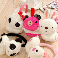 Wholesale For Christmas day Cartoon pandas plush ear set of lovely large ears bag South Korea over warm copy r
