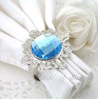Cheap Wedding Table Decoration napkin ring Best Napkins & Napkin Rings Acrylic Stone / Silver-tone Metal Rings ring wedding