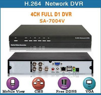 Wholesale 4CH H DVR Standalone High Definition PTZ control Mobile Monitor SA V Network e_shop2008