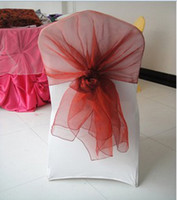 Wholesale around kinds color chair cover hood chair sash organza sash