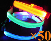 Wholesale New Flashing LED Cat Dog Collar Pets Led Leads Necklace Adjustable Pet Belt XS S