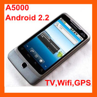 Wholesale A5000 unlocked mobile phone quot touch screen Android TV Wifi GPS sim Freeshipping by DHL