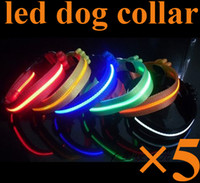 Wholesale New Flashing LED Dog Collar Pets Led Leads Necklace Adjustable Pet Belt