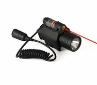 Wholesale Tactical Flashlight Red Laser Sight Scope mm mw with CREE LED in Black