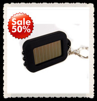 Wholesale Car Keychain With LED Light MINI Solar Flashlight Solar lights LED lamp key chain ring