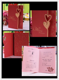 Wholesale wedding cards invitation cards romant style wedding card come with envelope weddding gifts