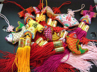 Wholesale Classical Car Ornaments Chinese knot Silk Embroidery Handcrafts Hanging mix Free