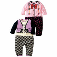 18-24 Months 80-90-95 Pink Wholesale - Japan Infant Rompers Toddler Bodysuits Cotton baby onesies Jumpsuits long-sleeved 36pcs