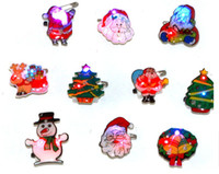 Wholesale Christmas flash brooch New Year s Christmas decoration products Shine brooch badge Hot Sale