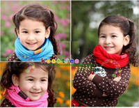 Wholesale Hot Sale Baby scarf Children s muffler autumn and winter New Fashion scarf colors O Scarf