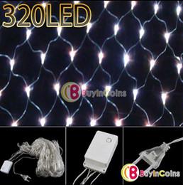 2015 Real Cotton Balls Wedding Decoration Cotton Ball Light 220v Christmas Party 320 Led Mesh String Net Night White Light Xmas Deco 3mx2m