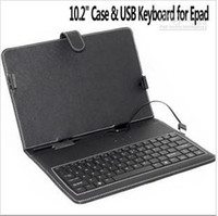 Wholesale Leather case with USB keyboard For quot ZT X220 tablet PC fly touch