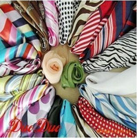 Wholesale Small kerchief scarf personality silk scarves many designs and color scarves
