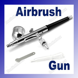 Wholesale New mm Spray DUAL Action Airbrush Gun Nail Body Art paint Painting Manicure tool Kits