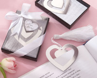 Wholesale quot Love Story quot Metal Heart Shaped Bookmark With Tassel Wedding Favor