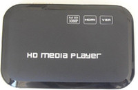Wholesale Full HD P HDD Media Player HDMI Media Center RM RMVB AVI MPEG4 H MKV USB SDTV in Black