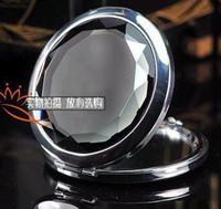 Wholesale 6pcs Exquisite Crystal METAL MAKEUP COMPACT MIRRORS