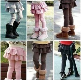 Polainas de la falda caliente en Línea-HOT B2W2 Medias de las polainas de las muchachas con las faldas, polainas de la falda de los niños Falda de las muchachas-pantalones Falda de la torta