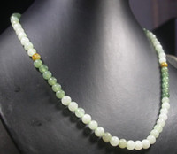 Wholesale Yellow Green white color Natural A JADE Jadeite Bead bead Necklace