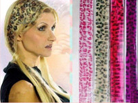 Wholesale stylish leopard print Clip in hair extension animal print hair colours