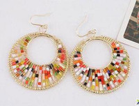 Wholesale Exalted Cleopatra Egyptian queen Colorful Earrings pairs JE7022