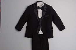 Wholesale Hot Sale for set NEW BLACK TUXEDO BOY S FORMAL SUIT size