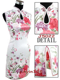 Wholesale Sexy Chinese Mini Womens Satin Evening Dress Cheongsam wedding dress free shopping colou