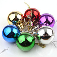 Wholesale 12Bags Multicolor Christmas Tree Decoration Glazed Ball Gift TO Dress Up Xmas