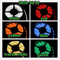 Wholesale Waterproof DC12V meters Super bright m roll SMD flexible LED Strip Rope Lights