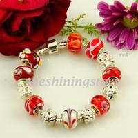 chamilia bracelet biagi bijoux européens charme perles de murano bracelets en argent sterling 925 rempli Pbc014
