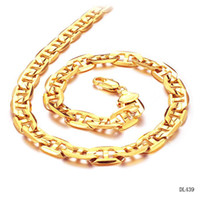 Wholesale FASHION JEWELRY K GOLD PLATED MALE BRACELET BUCKLES TYPE NECKLACE LINK CHAIN NECKLACE