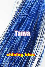 Wholesale Shining Blue quot s package silk hair tinsel for hair extensions