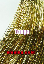Wholesale Shining Gold quot s package silk hair tinsel for hair extensions