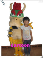Animal bowser costume - Super Mario Bros King Bowser Mascot Costume Child Size