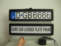 Wholesale Plastic Steath Remote Auto Car Licence Plate Holder Car license Plate Frame EURO and Russia size