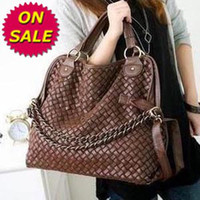 Wholesale On sale Korean Hobo PU Leather Handbag Shoulder Bag Black Brown Coffee Fantastic Gorgeous B0016