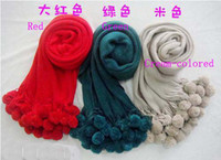 Wholesale Autumn Winter Scarf To Keep Warm Tassel Scarf Goals Acrylic Yarn Cm Cm hawls Colo