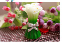 Wholesale Wedding Candles Pearl Lily candle favors for wedding birthday party drop shipping LZ03