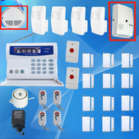 Wireless alarm residential - Intelligent Burglar GSM Alarms System Home Residential Security with LCD display SMS Auto Dialer SG