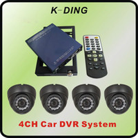 Wholesale 4 channel bus dvr system with4 camera bus security gb SD or GB hdd memory locking housing serial number security code