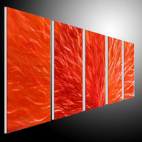 Metal Wall Art Abstract Modern Seascape Contemporary Home Decor 5 Panels A1B