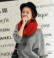 Wholesale Fashional Korean Men and Women Scarf Soft Purity knit Single Circle Neck warmers